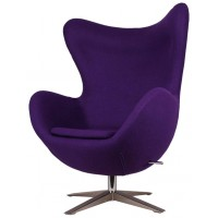 Барное кресло Egg wool purple (Эгг фиолетовое)