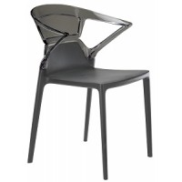 Барный стул пластиковый Ego-K antracite antracite