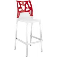 Барный стул пластиковый Ego-Rock Bar01 solid red