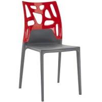 Барный стул пластиковый Ego-Rock trasparente red antracite