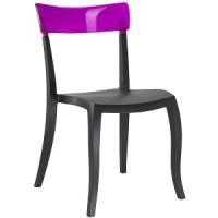 Барный стул пластиковый Hera-S trasparente violet black