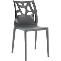 Барный стул пластиковый Ego-Rock antracite
