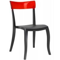 Барный стул пластиковый Hera-S trasparente red black