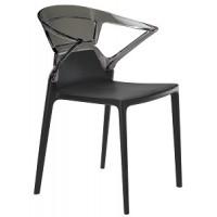 Барный стул пластиковый Ego-K antracite black