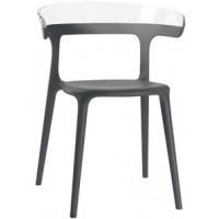 Барный стул пластиковый Luna trasparente antracite