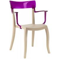 Барный стул пластиковый Hera-K trasparente violet beige