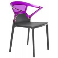 Барный стул пластиковый Ego-K violet antracite