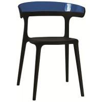 Барный стул пластиковый Luna blue black