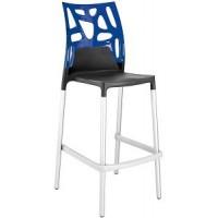 Барный стул пластиковый Ego-Rock Bar09 blue