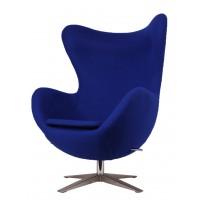Барное кресло Egg wool blue (Эгг cинее)
