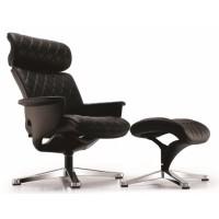 Кожаное кресло-реклайнер Nuvem Lounge black (коричневый)