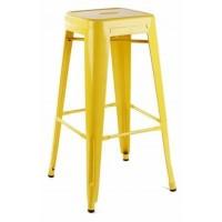 Высокий барный стул-табурет Tolix MC-012 yellow (желтый) H-760