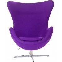 Кресло Egg purple wool (Эгг фиолетовое)