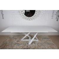 Стол раскладной Fleetwood New white (Флитвуд белый шпон) 1600х900