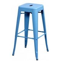 Высокий барный стул-табурет Tolix MC-012 blue (голубой) H-760