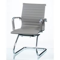 Офисное кресло конференционное Solano office artleather grey (Солано серое)