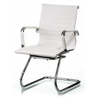 Офисное кресло конференционное Solano artleather conference white (Солано белое)