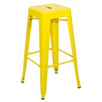 Высокий барный стул-табурет Tolix MC-011 yellow (Толикс МС-011 желтый) H-660