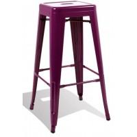Высокий барный стул-табурет Tolix MC-012 purple (фиолетовый) H-760