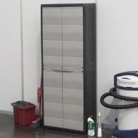 Шкаф двухдверный Elegance S на 3 полки black-warm gray (черный-теплый серый)