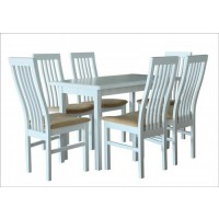Стол обеденный раскладной Сид белый/бежевый 1200х700