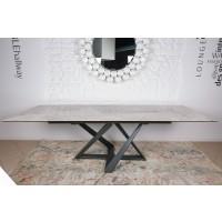 Стол раскладной Fleetwood New grey (Флитвуд светло-серый глянец) 1600/2400х900